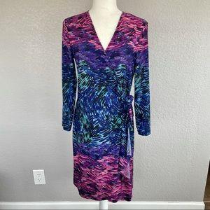 NWOT BCBGMAXAZRIA Printed Wrap Dress
